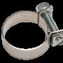 Хомут стяжной мини (тип АВА) оцинкованный и нержавеющий от производителя